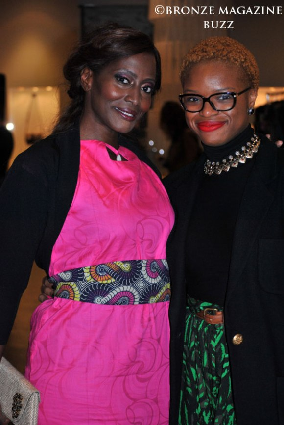 Bisila Bokoko with Bronze Magazine Writer Ada Mbogu